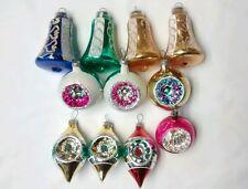 Vintage Mercury Glass Christmas Ornament Lot West Germany Poland Indent Bells