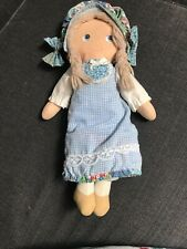 Vintage 1980 Knickerbocker Cloth Holly Hobbie Day 'N Night Doll