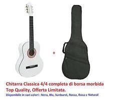 Chitarra Classica DMY 4/4 Bianca con Custodia Top Quality Studio Professionale