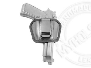Premium Leather Universal IWB or OWB Ambidextrous Belt Slide Holster