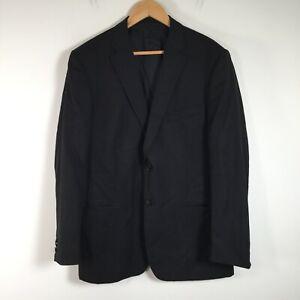 Z Zegna mens suit jacket size 52 R Wool black long sleeve