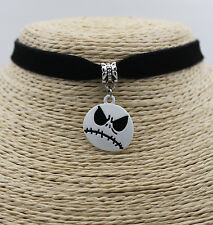 Punk Jack Nightmare Before Christmas Women Pendant Choker Collar Bib Necklace#01