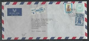 BAHRAIN COVER (PP1304BB) 1996 SHEIKH 200F+500F+TAX STAMP REG A/M TO GERMANY