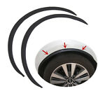 2x Black Carbon Fiber Style Car Fender Flare Wheel Lip Rubber Protector Body Kit