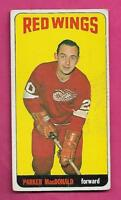1964-65 TOPPS TALL # 11 RED WINGS PARKER MACDONALD GOOD CARD (INV# J0004)