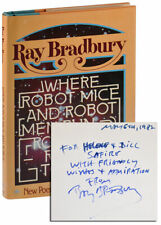 Ray Bradbury-WHERE ROBOT MICE & ROBOT MEN (1977)-1ST ED-INSCR.TO WILLIAM SAFIRE
