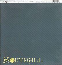 Moxxie - Softball Scrapbooking Paper 12x12 - PLB-1660