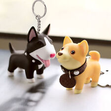 1PC Cute Dog Keychain Key Ring Holder Shiba Inu Bull Terrier Creative Toy Gift