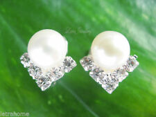 Clip - On Natural Fine Pearl Earrings