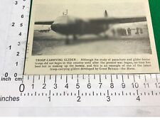 Troop carrying glider Horsa 1942 R.A.F. period cutting