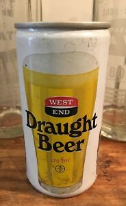 VINTAGE BEER CAN WEST END. DRAUGHT BEER MAN CAVE BAR SHED SPORTS BAR COLLECTABLE
