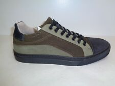 Steve Madden Size 12 ELLIOT Olive Leather Fashion Sneakers New Mens Shoes