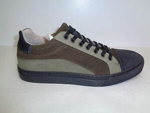 Steve Madden Size 7 ELLIOT Olive Leather Fashion Sneakers New Mens Shoes