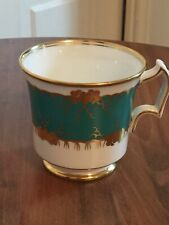 Vintage Royal Chelsea Teacup English Bone China White/Green Gold Accents