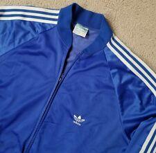 Vintage Adidas ATP KeyRolan Polyester Blue Trefoil Track Jacket USA Size XL