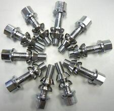 10 x Radschrauben Radbolzen verchromt M14x1,5x45mm Kegelbund Kugelbund SW 17