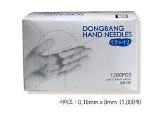 Dong Bang Disposable Acupuncture Hand Medical 0.18x8mm Needles 10,000pcs/ 10 set