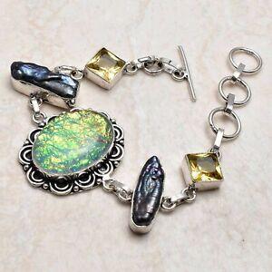 Triplet Opal Citrine Ethnic Handmade Bracelet Jewelry 20 Gms AB 97543