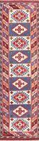 "Vintage Tribal Anatolian Turkish Geometric Runner Rug Hand-knotted 2' 6"" x 9' 4"""