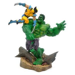 """Marvel Hulk vs Wolverine 14"""" Statue Figure Marvel Comics  19"""