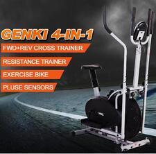 Genki 4-in-1 LCD Elliptical Cross Trainer & Exercise Bike Burns Calories Pulse