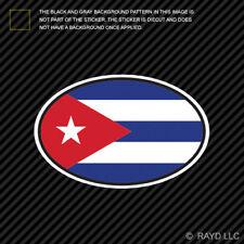 Cuba Oval Sticker Die Cut Decal Cuban Country Code euro CU v7