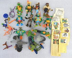 Teenage Mutant Ninja Turtles Lot Vintage 1989 Mirage Playmates Toys accessories