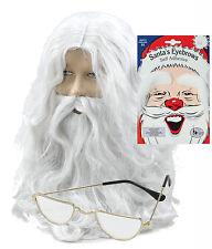 BABBO NATALE BABBO NATALE KIT Parrucca, Barba, Half Moon Occhiali & WHITE Sopracciglia