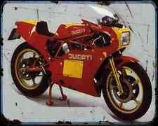 Ducati 600Tt1 84 A4 Metal Sign Motorbike Vintage Aged