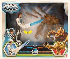 Max Steel vs Elementor - Action Figur mit Leuchtwaffe Spielfiguren NEU