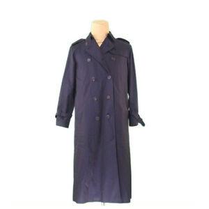 Aquascutum Coats Jackets Navy Woman unisex Authentic Used L2370