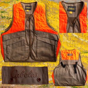 Cabela's Men's Vest Hunting Fishing Mountain Photography Safety Pouch Workwear