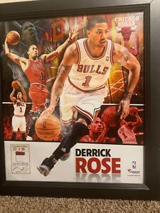 Derrick Rose Framed Autographed Chicago Bulls Jersey( VERY RARE )