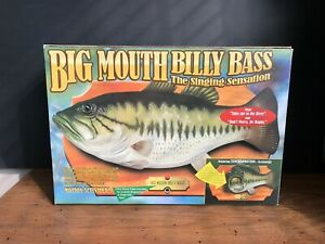 Big Mouth Billy Bass Singing Fish 1999 Take Me To the River Don't Worry Be Happy