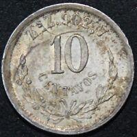 1891 ZsZ   Mexico 10 Centavos   Silver   Coins   KM Coins