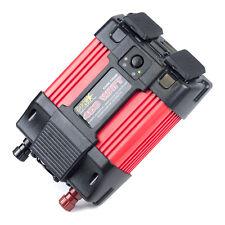NRG 400 Watt 12V DC to 120 V AC Car Power Inverter, 2 Outlets and USB (50364)