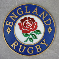 England Rugby Union Plaque Cast Iron 24cm Wall Sign Ideal Gift For Rugger Fan