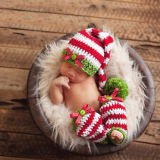 Newborn Baby Photography Props Boy Girl Crochet Costume Outfits Long Tail Hat