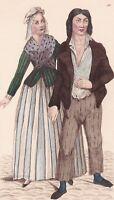 Directoire Costumes du Peuple 1793 XVIIIe siècle