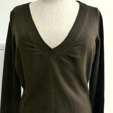 Fein-Strick-Pullover von MEXX  Größe S, V-Ausschnitt , uni braun