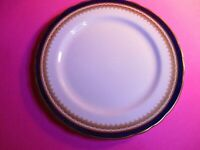 "Aynsley ""Embassy Cobalt"" blue Gold china  8-1/8"" Salad Plate, Scalloped Edge"