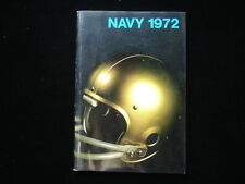 1972 United States Navy Academy Football Media Guide EX+
