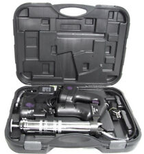 "18 VOLT CORDLESS GREASE GUN 10 000 PSI WITH 2PC 18V BATTERIES 42"" FLEXIBLE HOSE"