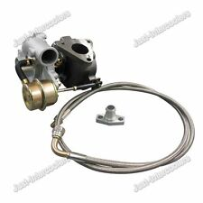 Universal GT15 T15 Turbocharger Turbo Charger .42 A/R + Oil Feed Line Flange Kit