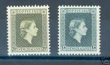 New Zealand Scott#O109 & 111 Mint Hinged