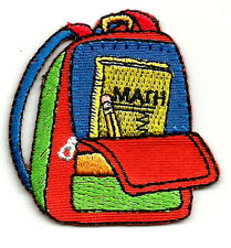 School - Backpack - School Supplies - Embroidered Iron On Applique Patch