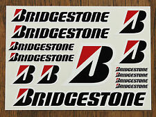 BRIDGESTONE STICKER SETS - SHEET OF 14 STICKERS - DECALS - Printed & Laminated