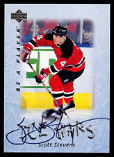1995 96 UD BE A PLAYER AUTO SCOTT STEVENS AUTOGRAPH SIGEND NEW JERSEY DEVILS