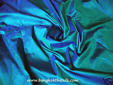 12 YDS LOT TEAL 100% PURE SILK FABRIC 2-TONE BRIDESMAID DRESS DRAPE CRAFT