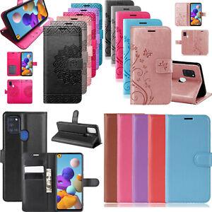 Handy Tasche für Samsung Galaxy A21s Hülle Case TPU Schutz Schale Etui Buchhülle